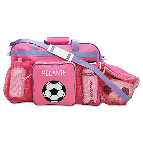 Personalized Kids Pink Soccer Sport Bag, 19″ Long, Girls Soccer Bag