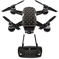 Skin for DJI Spark Mini Drone Combo - Black Wall| MightySkins Protective, Durable, and Unique Vinyl Decal wrap cover | Easy To Apply, Remove, and Change Styles | Made in the USA