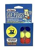 PUTTY BUDDIES Original Swimming Earplugs, 3-Pair Pack (Red/Blue/Yellow)