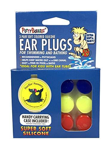 Putty Buddies Original Swimming Earplugs, 3-Pair Pack ()