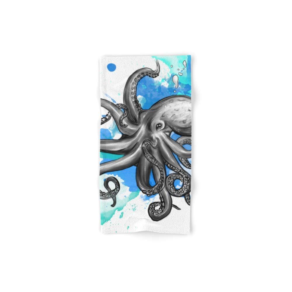 Society6 Bath Towel, 30'' x 15'', Octopus 2 by marzisketch