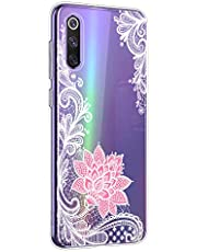 Oihxse Mandala Flores Encaje Patrón Serie Case Compatible con Realme X2 Funda TPU Silicona Suave Protector Ultra Slim Anti-Rasguño Transparente Carcasa (A6)