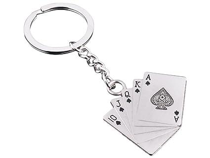 Ocaler 174; Moda creativa Poker estilo llavero cadena 10 ...
