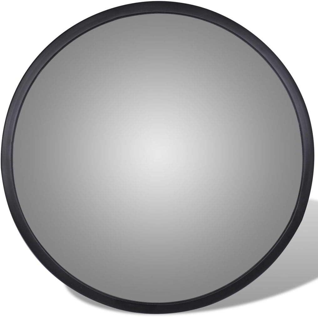 Miroir de S/écurit/é Miroir de Circulation Noir en Acrylique 30 cm Tidyard Miroir Convexe dint/érieur