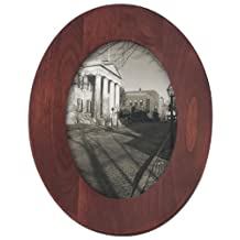 Malden Classic Oval Walnut Wood Picture Frame, 5 by 7-Inch