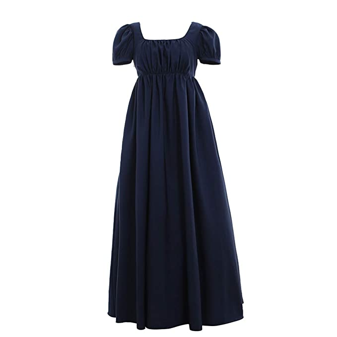 Masquerade Ball Clothing: Masks, Gowns, Tuxedos Regency Ball Dress High Waistline Tea Gown Dress 1791s lady $89.90 AT vintagedancer.com