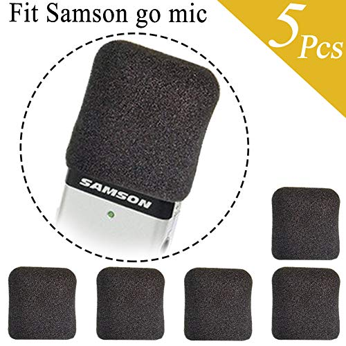 Foam Windscreen Microphone Foam Cover for Samson Go Mic (5 Pack)