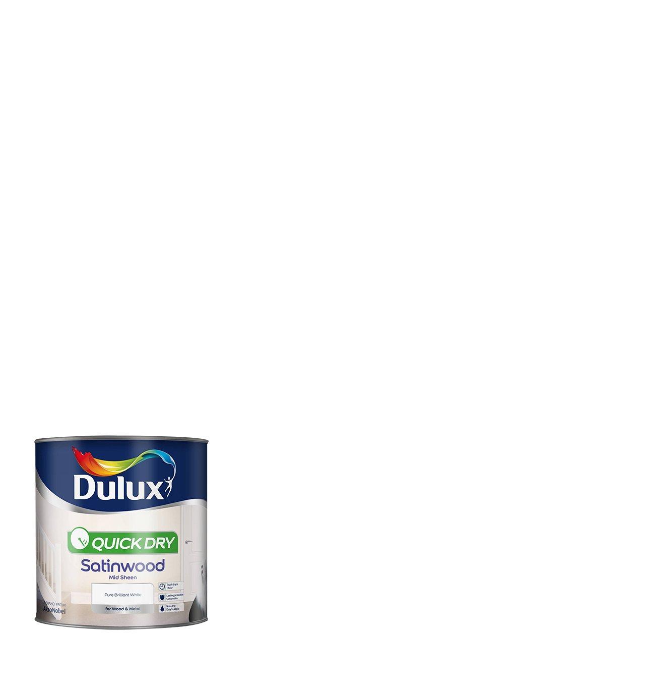 Dulux Quick Dry Satinwood Paint Pure Brilliant White Review