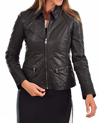 Donna Leather Junction Leather Giacca Donna Giacca Nero Leather Junction Junction Giacca Nero pq1anOqw