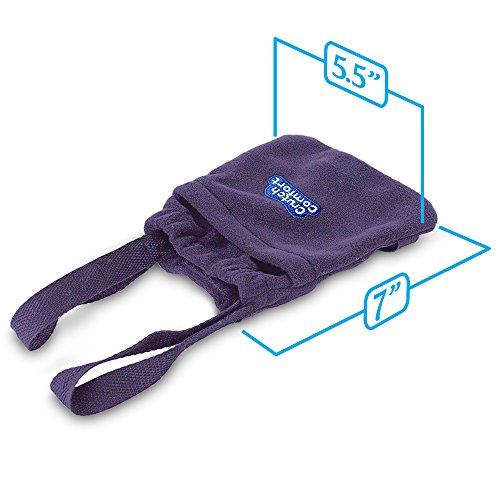 Universal 2-Pocket Crutch Pouch Bag Pocket (Purple)