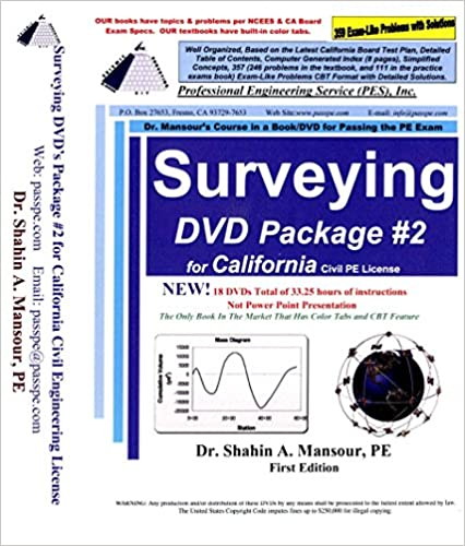 Amazon Surveying Dvd Package 2 For California Civil Pe License