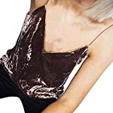 EOWEO Anniversary celebration T-Shirt Tops Vest Women Loose Comfortable Sleeveless Tank Tops Vest(Large,Coffee)