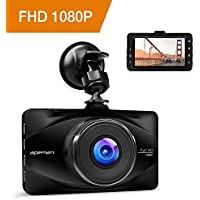 APEMAN Dash Cam 1080P FHD 3.0' Screen DVR Car Dashboard Camera Recorder with 170 Degree Wide Angle, Night Vision, G-sensor, WDR, Loop Recording, Motion Detection, and Parking Monitor