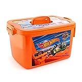 Cello Hot Wheels Kids Toy Rectangle Plastic Multi-Purpose Storage Box, Orange
