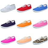 CIOR Women Lace up Canvas Shoes Casual Round Tote Classic Sneakers Original Lightweight Soft