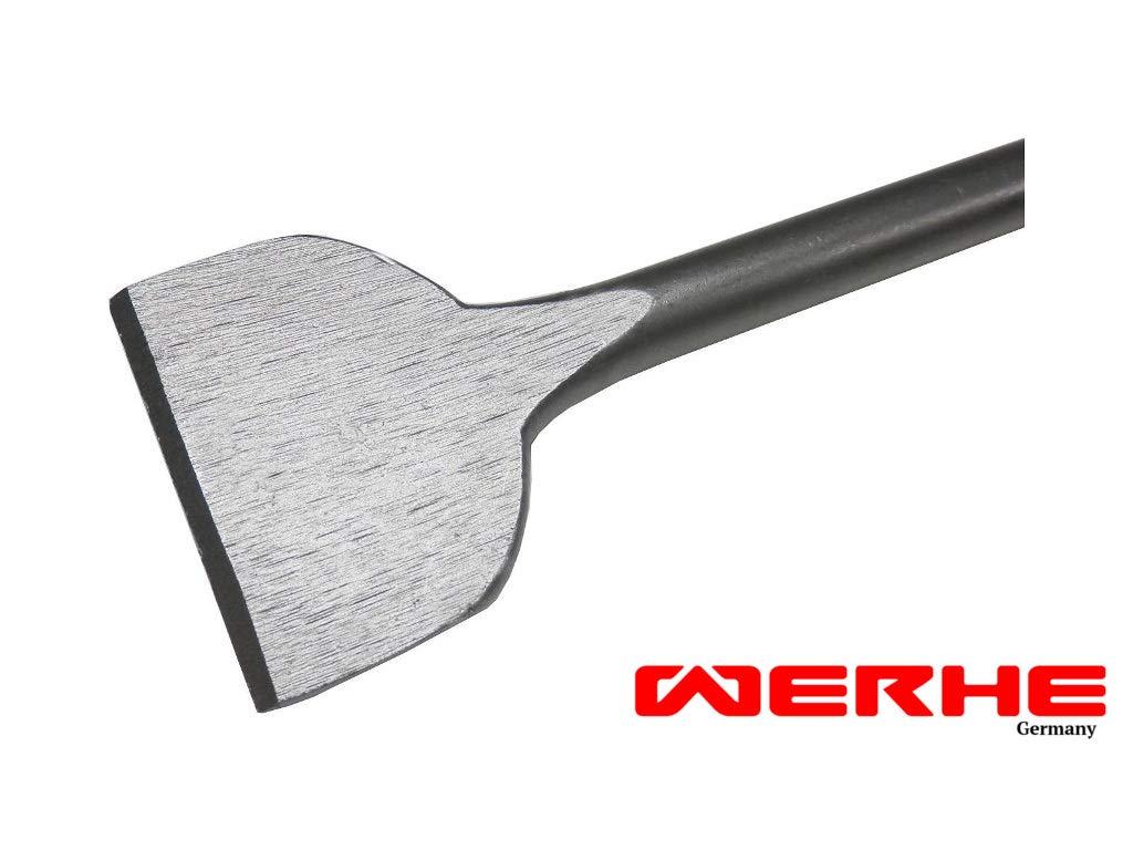 WERHE Profi SDS Plus Cincel plano Cincel plano 60 x 250 mm Ancho Cincel Spat Plano Cincel