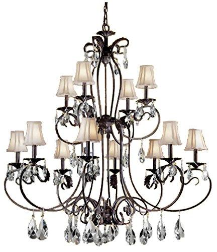 Bronze Classic Crystal - Classic Lighting 68319 EB C Manilla II, Crystal, Chandelier, 48