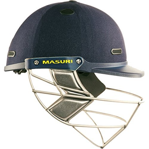 MASURI VS Test Steel Adult Cricket Helmet, Navy, Small Mens by Masuri by Masuri