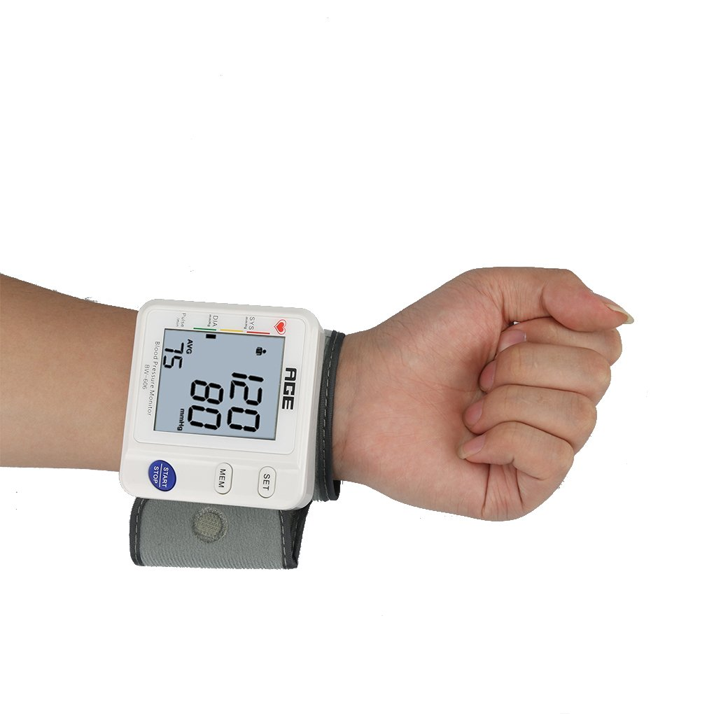 chunyang Digital Tensiómetro Tensiómetro digital muñeca Tensiómetro con gran pantalla led automática Tensiómetro Monitor precisa y rápida lectura, ...
