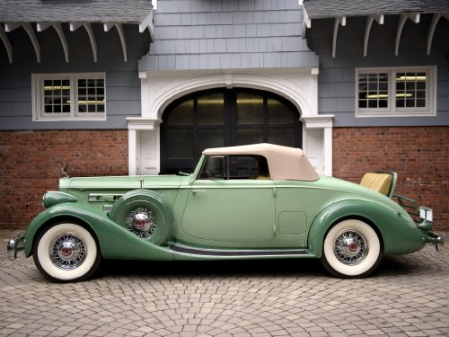 Packard Twelve Coupé Roadster (1936) Car Art Poster, used for sale  Delivered anywhere in USA
