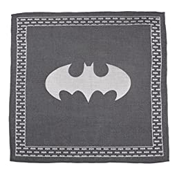 Simply Superheroes Mens Batman Gray Linen Pocket Square One Size Fits All