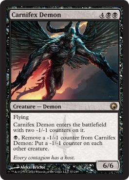 - Magic: the Gathering - Carnifex Demon - Scars of Mirrodin - Foil