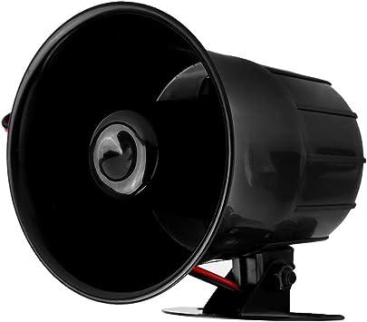 Alarma sonora cableada Bocina 110db DC 12V Advertencia de seguridad//Bocina de sirena antirrobo Parlante ruidoso para seguridad en el hogar Sistema de monitoreo Seguridad interior y exterior