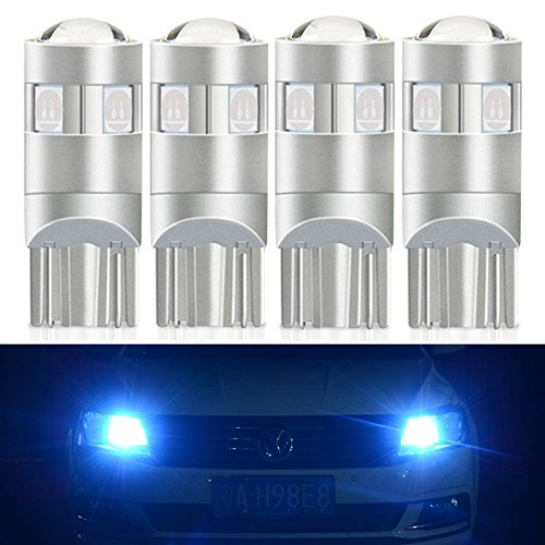 NAO 194 LED Light Bulb Extremely Bright T10 168 2825 W5W 5-smd 3030 Chipsets Error Free for Car Interior Dome Map Door Courtesy License Plate Lights (4PCS,Ice ()