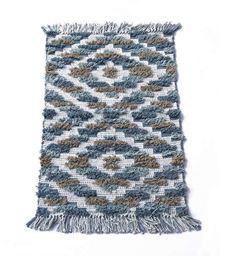 Chardin home Arabella Hand Woven Cotton Accent and Bath Rug Machine Washable, 20'' W x 32