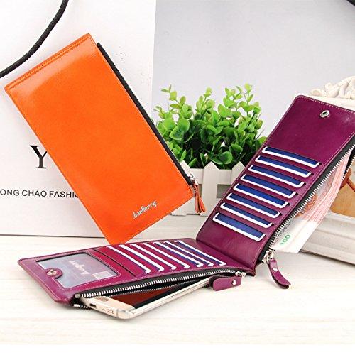 Damen Leder Geldbörsen Taschen Damen Portemonnaie Damen Geldbeutel Damenhandtasche,Brieftasche Kreditkartenetui Wallet,RFID-Diebstahlschutzmappe. Abschirmmaterial auswählen I