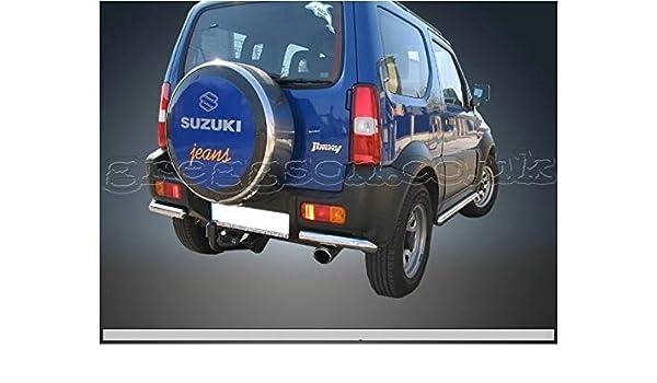 Suzuki Jimny acero inoxidable protectores de parachoques Barra de esquina 2014: Amazon.es: Coche y moto