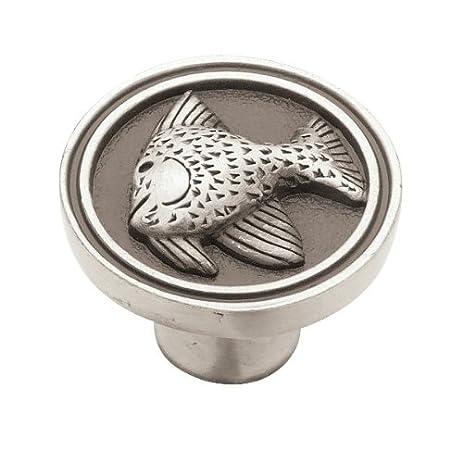 Liberty PBF659 BSP C 35mm Angel Fish Kitchen Cabinet Hardware Knob, Brushed  Satin
