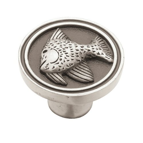 Liberty PBF659-BSP-C Pbf659-Bsp-C   35Mm Angel Fish Kitchen Cabinet Hardware Knob, Single, Brushed Satin Pewter ()