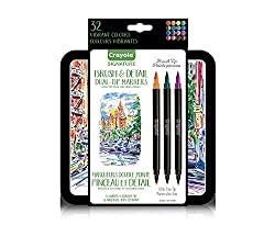 Add new levels of detail to your art projects with Crayola signature brush & detail Dual-tip markers. These markers feature brush tips on one side and ultra-fine detail tips on the other, giving you the versatility to add thin and thick lines and...