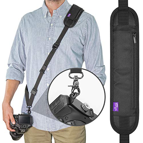 Altura Photo Rapid Fire Camera Neck Strap w/Quick Release and Safety Tether (Best Way To Carry Dslr While Traveling)