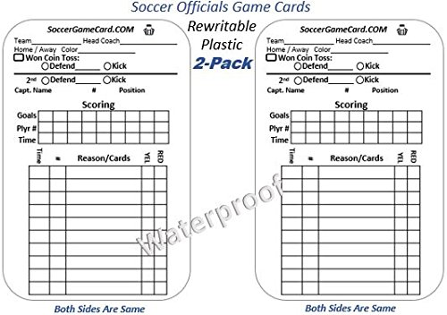 Soccer Referee Card - Reusable (2 Pack)