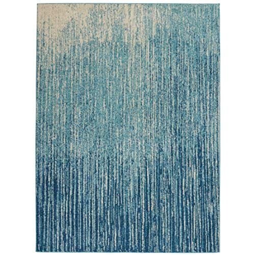 Nourison Passion Modern Ombre Area Rug Navy Light Blue 5 3 x 7 3 5 x 8 Blue