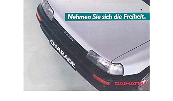 Amazon.com: 1995 ? Daihatsu Charade Brochure German: Entertainment Collectibles