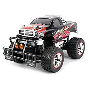 V-Thunder Pickup Electric RC Truck Big 1:14 Scale Size Lights & Music Series RTR w/ Working Suspension, Spring Shock Absorbers (Colors May Vary)