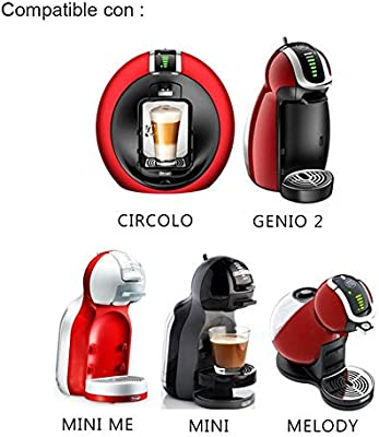 Syston 3 Pack Cápsulas Filtros de Café Recargable Reutilizable para Cafetera Dolce Gusto Resistente Más de 150 Usos de Sustitucion de Cápsula de Café ...