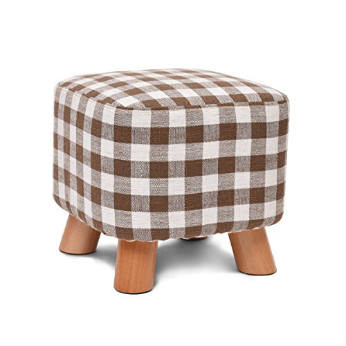 Xin-stool Solid wood shoes bench/bedroom stool/geometric fabric stool/creative square stool/fabric stool/sofa stool/coffee table bench/home stool/Leisure Stool/(2825cm) by Xin-stool
