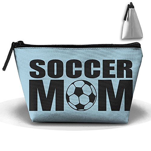 Portable Travel Storage Bags Soccer Football Mom All Printed Clutch Wallets Big Pouch Purse Zipper Holder For Kits Medicine And Makeup Bag
