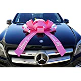 "CarBowz Big Car Bow, Sweet 16 Happy Birthday, Giant 30"" Bow, Non Scratch Magnet, Weather Resistant Vinyl (Pink)"