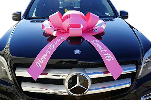 (CarBowz Big Car Bow, Sweet 16 Happy Birthday, Giant 30