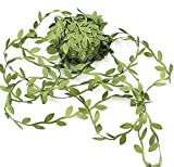 84 Yard Artificial Leaf Fake Vine Simulation Flower Foliage Green Leaves Rattan Wreath Decorative Home Wall Garden Party Decor