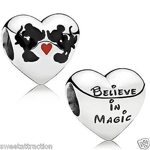 Kiss Disney (Carolyn Pandora 791443ENMX Disney Minnie & Mickey Kiss Charm)