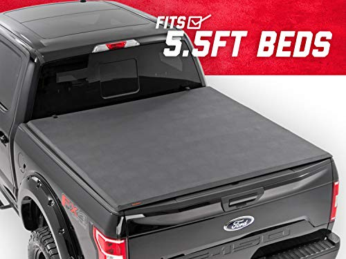 Rough Country Soft Tri-Fold (fits) 2015-2019 F150 (F-150) 5.5 FT Bed Truck Tonneau Cover 44515550 Soft Folding (2018 Rough Country)