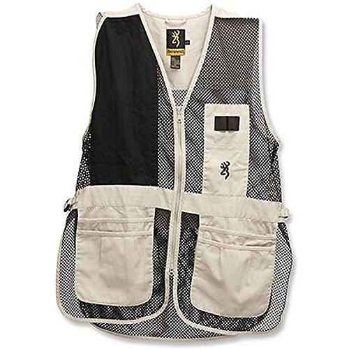 Browning Mens Vest - Browning Trapper Creek Left Hand Vest, Sand/Black, XX-Large