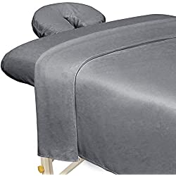 Premium Microfiber 3-Piece Massage Sheet Set Cool Grey