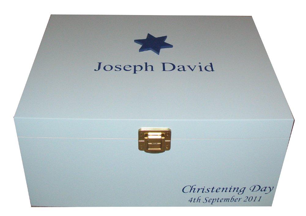 Baby Boy Wooden Keepsake Box Christening Gift Memory Box PERSONALISED Nursery